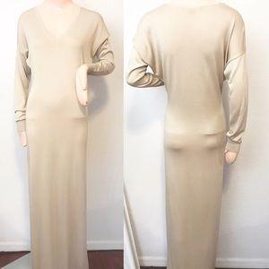 ralph lauren black label dress silk knit v-neck